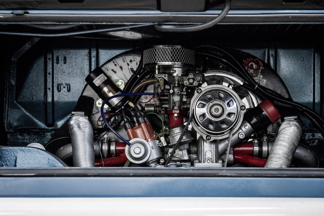 The engine of a car